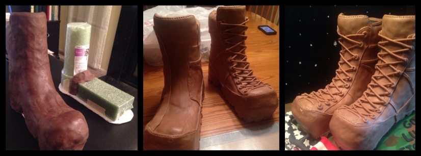how to make modeling chocolate boots