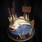 bass fish cake fondant