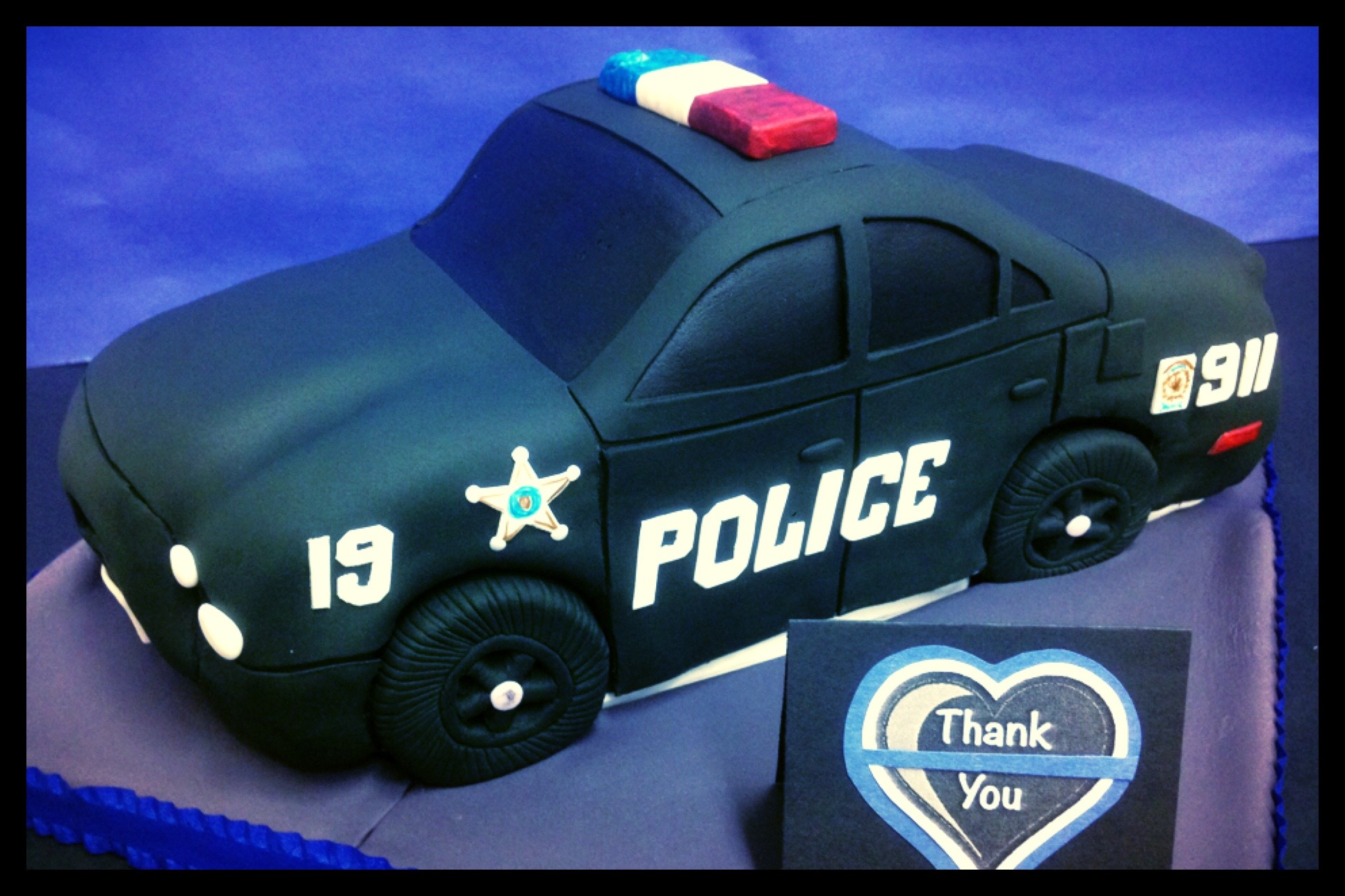 Police Car Cake Design : cake decorating Melodia