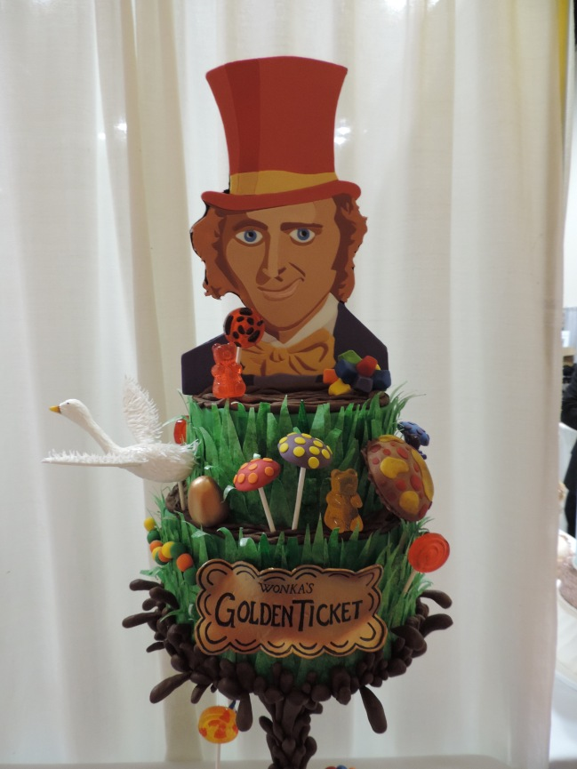 willy wonka cake close up