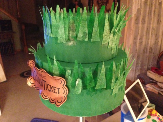 willy wonka cake wafer paper grass