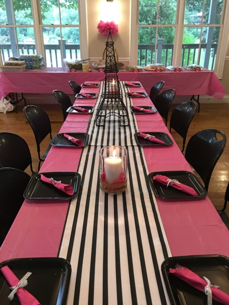 black white pink bridal shower
