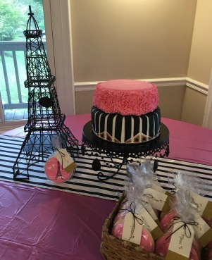paris eiffel tower bridal shower